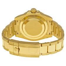 gold rolex oyster bracelet images Rolex gmt master ii black dial 18k yellow gold oyster bracelet jpg