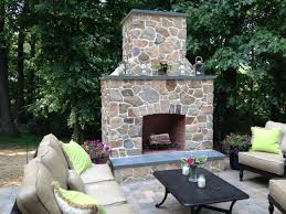 delightful outdoor stone fireplace part 3 eclectic stone