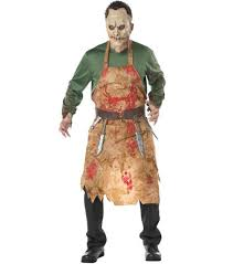 scary costume mens butcher costume scary evil dead fancy