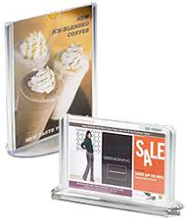 Table Tent Holders by Acrylic Sign Holders Clear Signage Frames