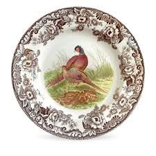 pheasant home decor dining spode woodlands china with bird picture plate and hunting