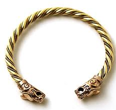 ring cuff bracelet images Bronze norse viking fenrir wolf head twisted cable bangle cuff jpg