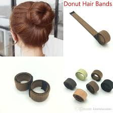 hair bun accessories mixed colors synthetic wig donuts bud band twist