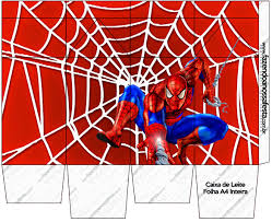spiderman free printable boxes parties free
