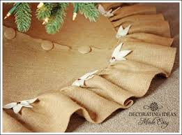 burlap tree skirt christmas tree skirt pattern that is easy and gorgeous