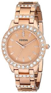 gold tone stainless steel bracelet images Fossil women 39 s jesse quartz stainless steel dress jpg