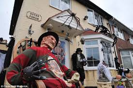 Scariest Halloween Decorations In The World by Thought Festive Homes Were A Horror Look At The New Fad For
