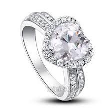 verlobungsring zirkonia 2 karat hochwertiger verlobungsring 925 silber herz zirkonia ring