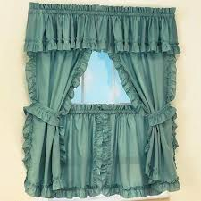 Cape Cod Curtains Cape Cod Curtains Solid Color Country Ruffled Window Curtains With