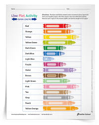 free line plot worksheet using fractions to measure crayon