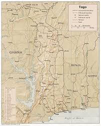 Togo Africa Map by