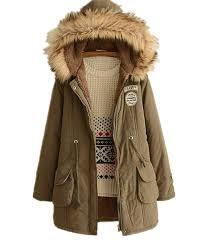 skirt bl women s winter jacket casual thicken hooded fleece lining