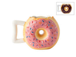 ceramic donut mug for coffee tea chocolate and more cups