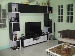 Living Room Tiles Design Pictures Modern Small Apartment Brown Floor Tiles Floating Big Tv White