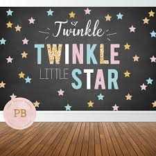 digital twinkle twinkle little star backdrop gender reveal zoom