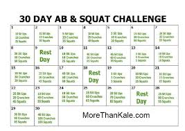 Challenge How To Do It 30 Day Ab Squat Challenge Healthy Happy