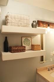 How To Decorate Floating Shelves Diy Bathroom Floating Shelves