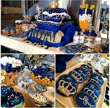 blue and gold baby shower decorations extraordinary prince baby shower decoration blue gold royal baby