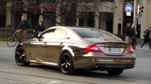 nyjah huston mercedes cls 63 amg chrom brown mercedes cls63 amg lovely sound hd