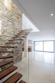 modern stairs the du tour residence in laval canada designed home remodel in canada maintains prairie style architecture