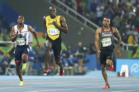 Runner Meme - rio 2016 photo of usain bolt smirking at runners behind him is the