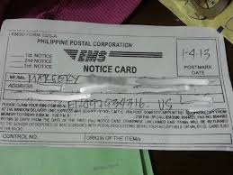 how to claim a package at the philippine postal corporation in