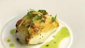 cuisine farce halibut fillet wrapped in spiced salmon farce food channel