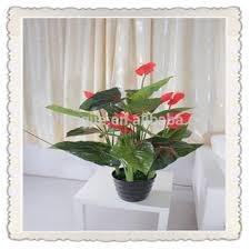 Silk Flower Plants - artificial red palm flower plants cheap artificial flower potted