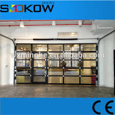 garage glass doors anodized aluminum frame clear glass garage door for modern kitchen