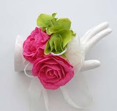 Wedding Wrist Corsage Cerise Pink Rose And Hydrangea Wedding Wrist Corsage Sarah U0027s Flowers