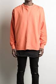 daniel patrick oversized orange crew neck sweater hero sweat iii