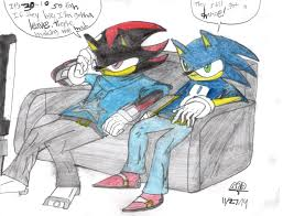 sonic and shadow cowboys thanksgiving by prime55 on