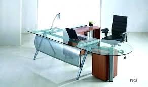 Office Glass Desk Office Table Glass Top Atken Me