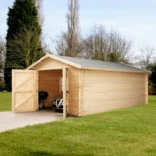 log cabin garage plans u2014 the better garages log cabin garage