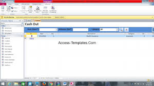ms access database invoice tracking template access database and