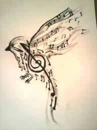 bird made up of music notes tattoo design tattoos book a