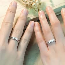 wedding bands for couples interlocking infinity promise rings for couples polished