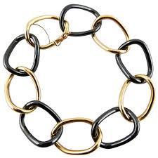 ceramic link bracelet images Santos de cartier yellow gold link chain bracelet at 1stdibs jpeg