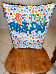 birthday chair cover giggleberry creations it s my birthday chair cover