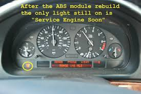 service engine soon bmw 328i 2002 e39 asc brake abs lights on diagnostic procedure parts