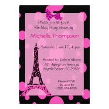 paris birthday invitations u0026 announcements zazzle com au