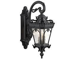 outdoor lighting kichler tournai 2 light outdoor wall lantern bkt