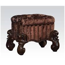 stools versailles vanity stool cherry oak af 21108 4 ba stores