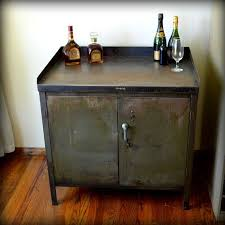 Metal Bar Cabinet Reserved Industrial Bar Cart Cabinet Vintage Metal Army Green