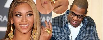 beyonce wedding ring tattoo wedding rings