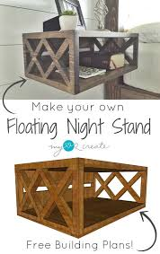 Tv Stand Plans Howtospecialist How by Floating Night Stand Building Plans And A One Board Challenge