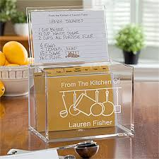 personalized kitchen items personalized acrylic recipe box from the kitchen of
