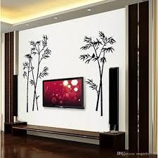 black bamboo single color leaves tree branch wall decor decal black bamboo single color leaves tree branch wall decor decal sticker removable living room background art mural poster