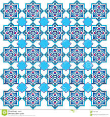 Pattern Ottoman Designed With Shades Of Blue Ottoman Pattern Series Five Stock