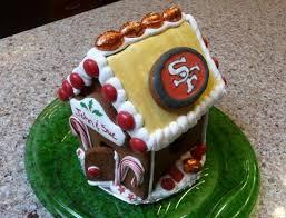 49er themed house gingerbread house